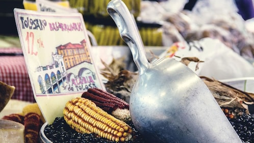 Corn for sale at a market in Tolosa