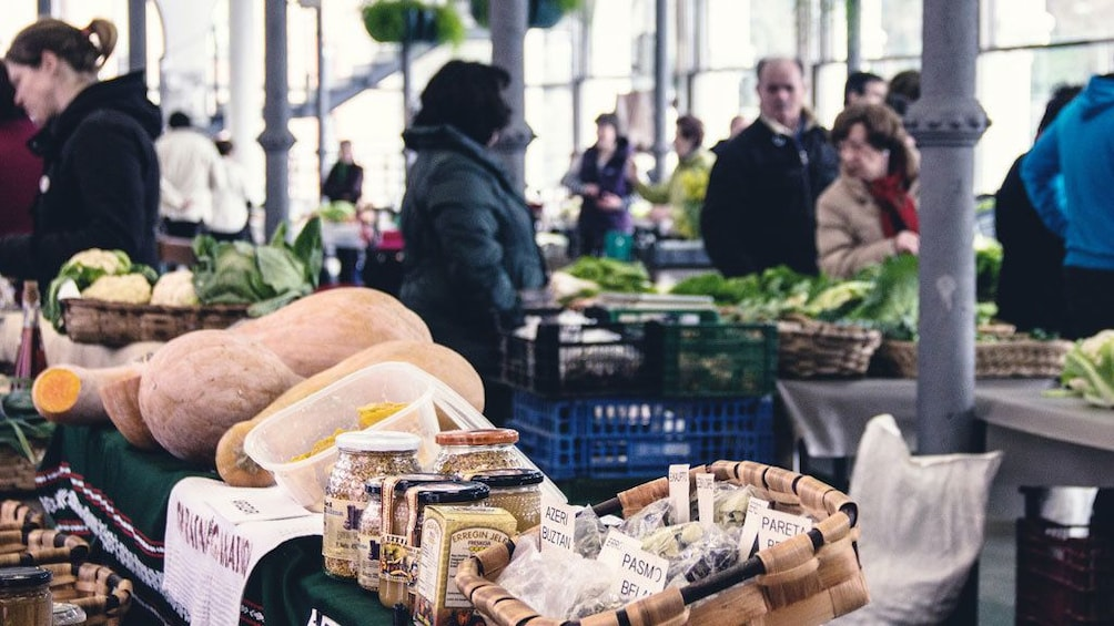 Food market in Tolosa