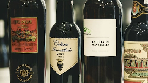 A selection of red wines in San Sebastian