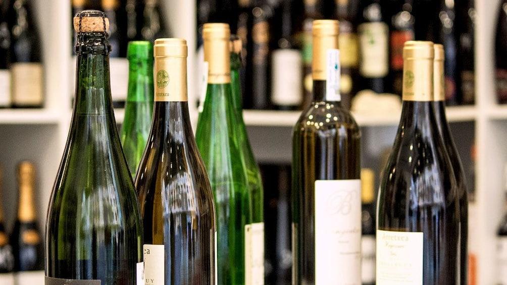 Show item 2 of 7. Bottles of wine in San Sebastian