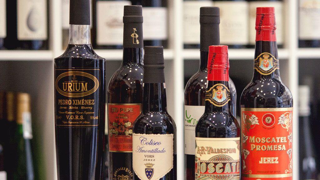 A selection of wine in San Sebastian