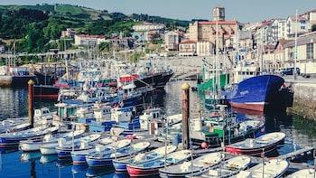 Visita de medio día en Getaria con marisco y degustación de vinos