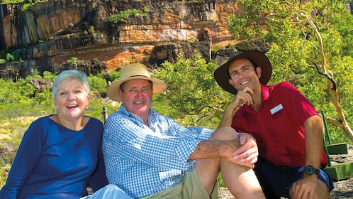 Three people at Kakadu national park