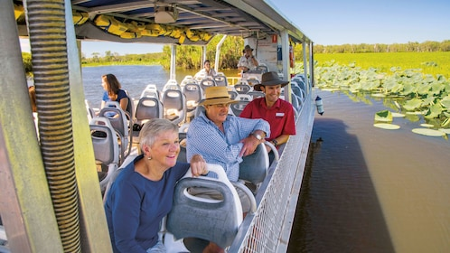 People on a boat in kakadu national park