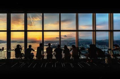Cafe 100 sunset.JPG