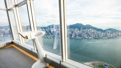 sky100 view of Hong Kong