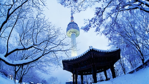 North Seoul Tower during winter