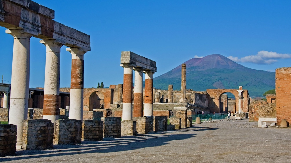 Remains of the ancient city of Pompeii