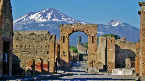 Ancient archways in the city of Pompeii