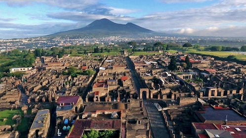 Historic city of Pompeii in Naples