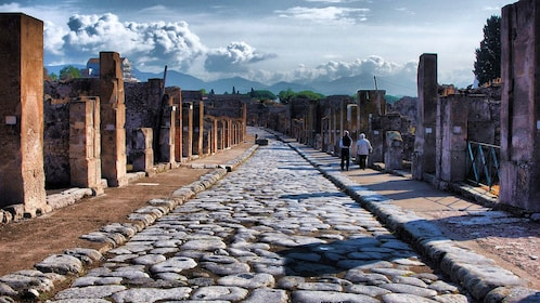 Pompeii ruins in Naples