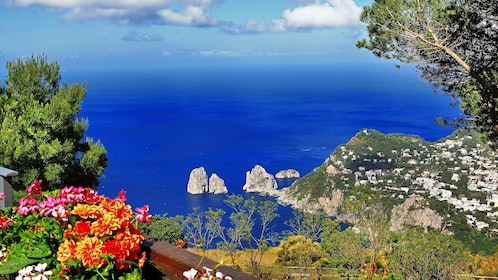Landscape of Capri Island in Italy