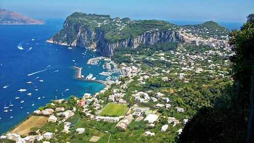 Aerial view of the city on Capri Island