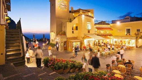 Nightlife on Capri Island in Italy