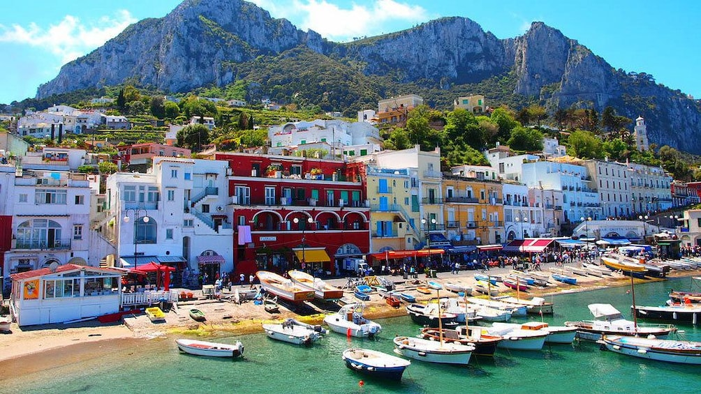 Charger l'élément 1 sur 8. Boats of Capri Island in Italy