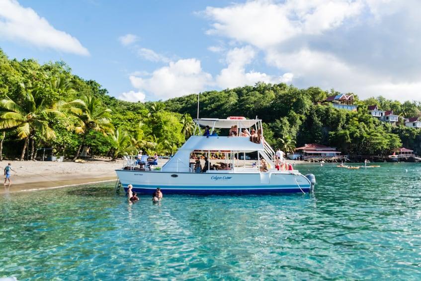 Show item 5 of 9. Tout Bagay Catamaran Cruise & Tour to Soufriere