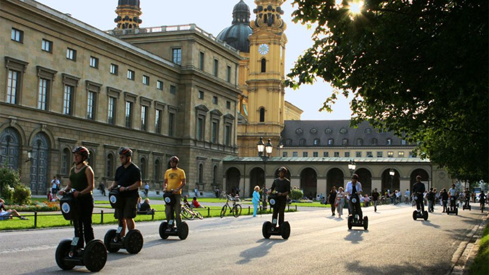 Segway group at the Theatine Church in Munich
