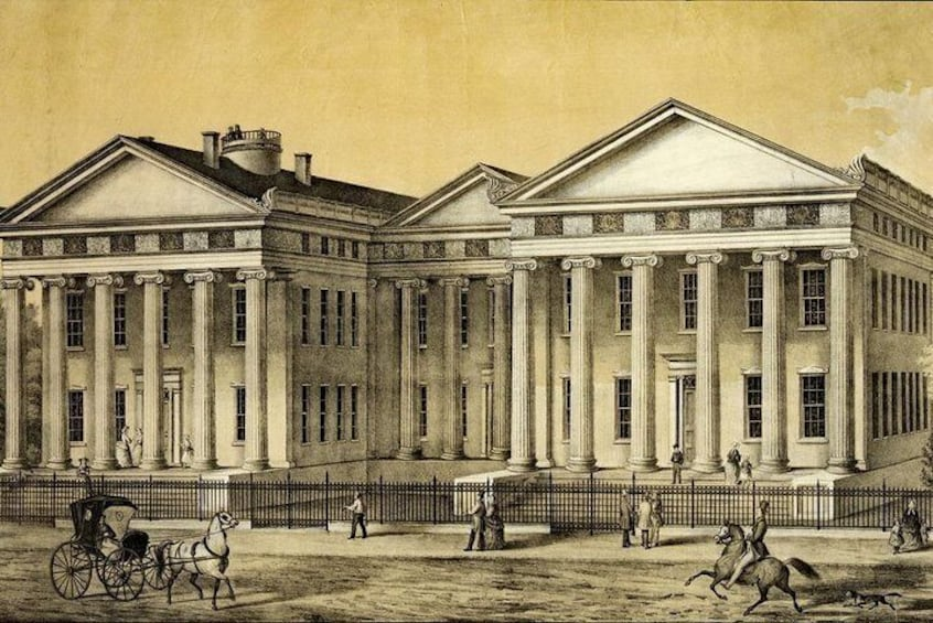 Show item 4 of 8. Frederick Female Seminary c. 1840