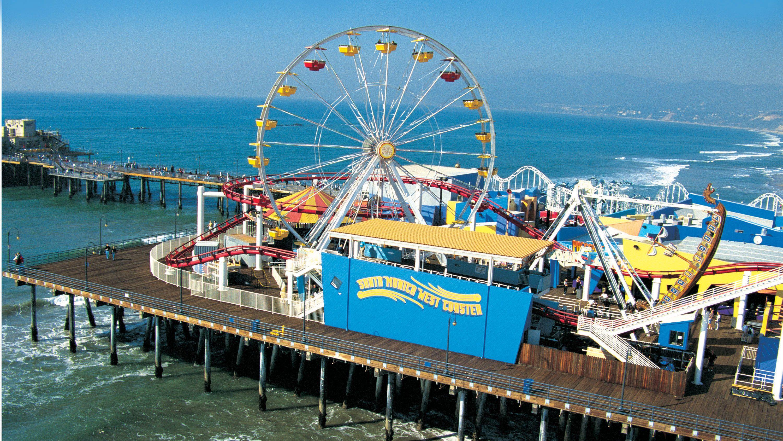 Rides at the Santa Monica pier in Los Angeles