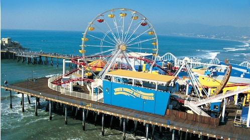 Rides at the Santa Monica pier in Los Angeles