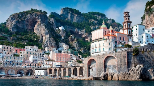 City and shoreline of the Amalfi Coast