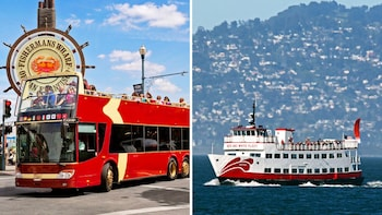 Sightseeing Combo Pass: Hop-On Hop-Off Bus Tour & Golden Gate Bay Cruise