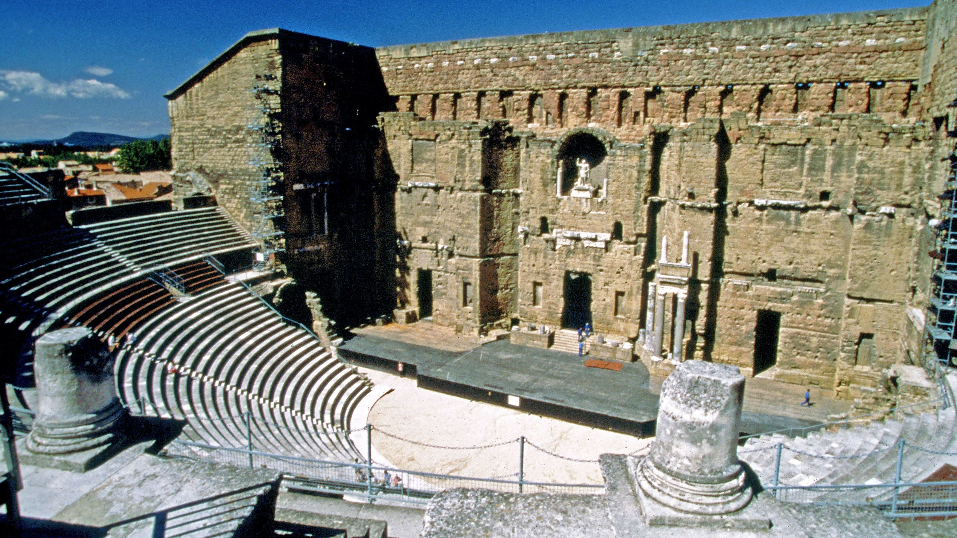 Historic amphitheater in France