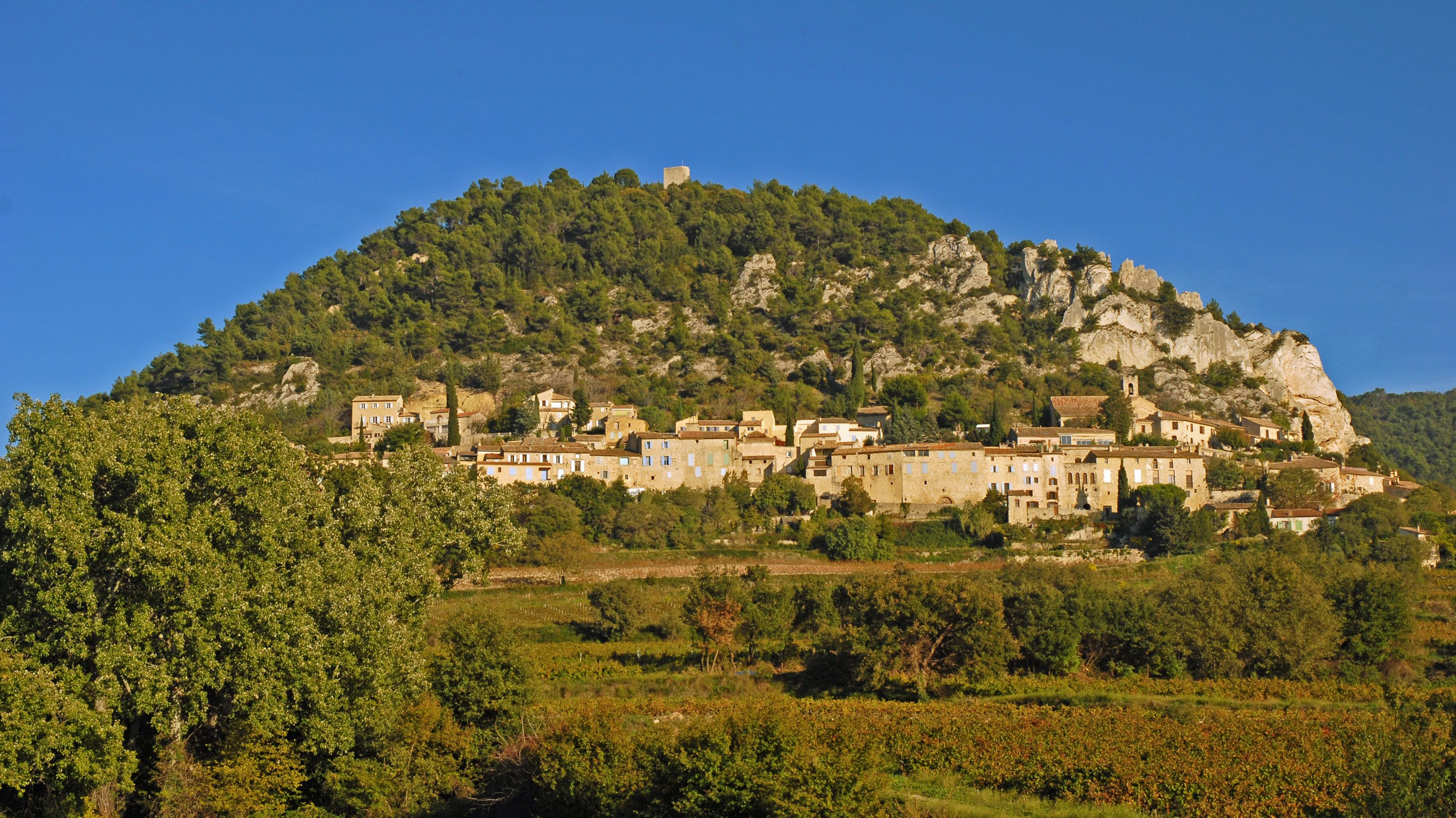 The village of Chateauneuf du Pape in France