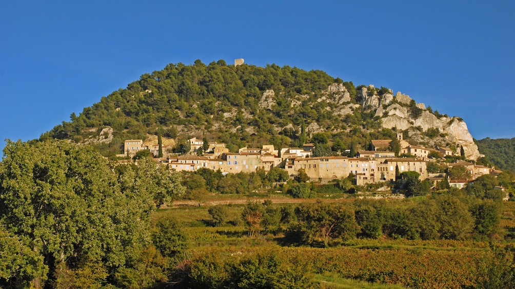 Show item 3 of 5. The village of Chateauneuf du Pape in France