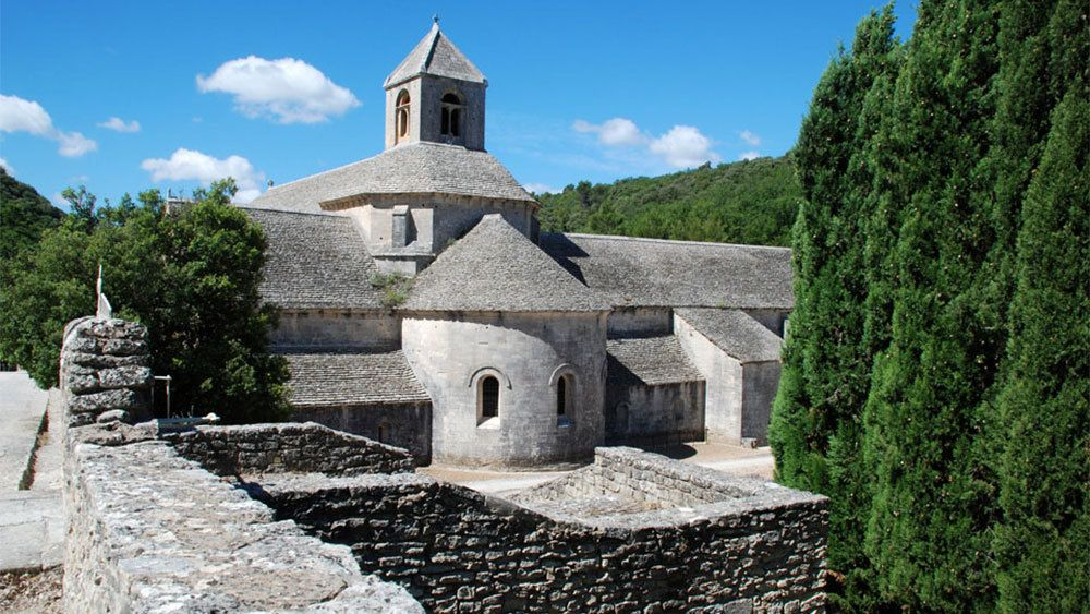 historical stone buildings in the town of Luberon