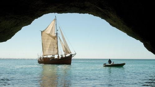 Sailboat off the coast of Algarve