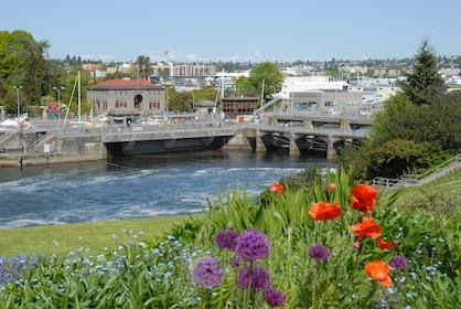 Seattle City Tour- Ballard Locks with Flowers.JPG