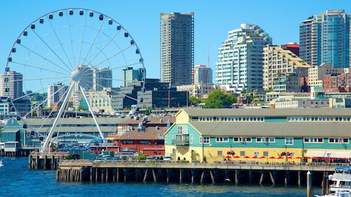 the Great Wheel along the waters by Pike Place Market in Seattle