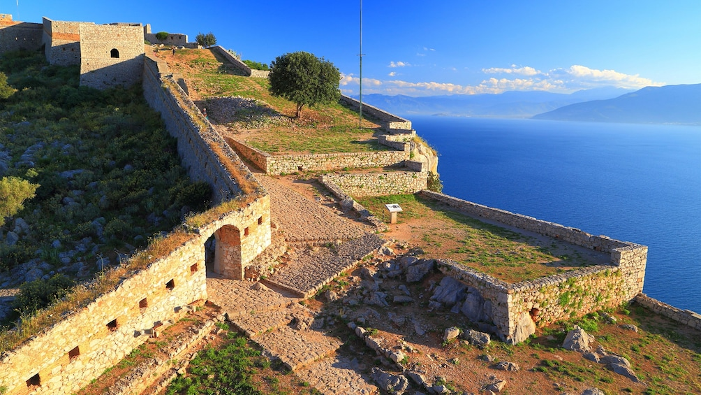 Show item 1 of 5. The fortress of Palamidi in Greece