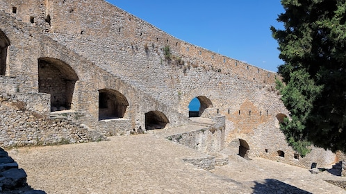 A wall in the fortress of Palamidi in Greece