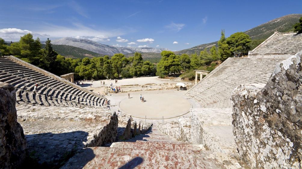 Show item 2 of 5. Ancient amphitheater of Epidaurus in Greece