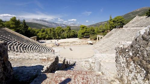 Ancient amphitheater of Epidaurus in Greece