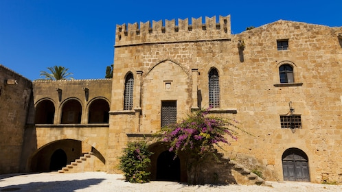 stone monastery in the old city of Rhodes