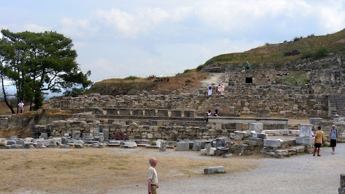 walking up the old ruins at Kameiros in Rhodes