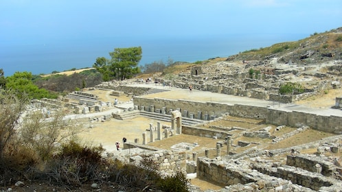 waling among the Kameiros ruins in Rhodes