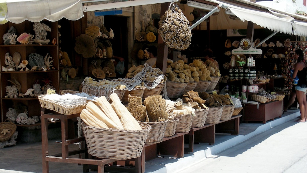 reefs and seashells at the market on Symi Island in Greece