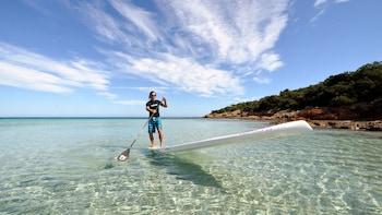 Stand-up-Paddling in der Blauen Lagune