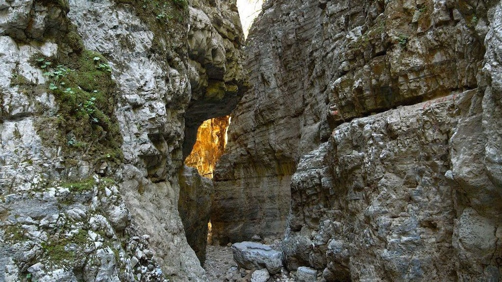 narrow rocky paths at the Imbros Gorge in Crete