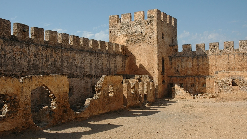 old fort ruins in Crete