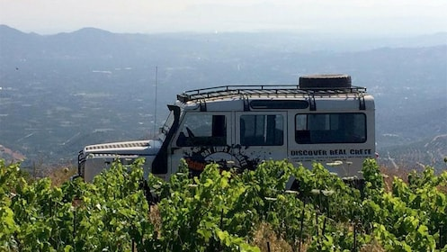 rugged land vehicle parked at high altitudes in Greece