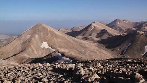 rocky and barren mountain terrain in Greece