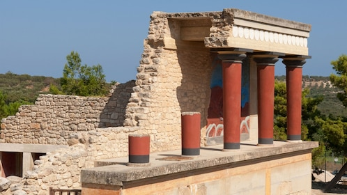 Close view of Knossos in Heraklion
