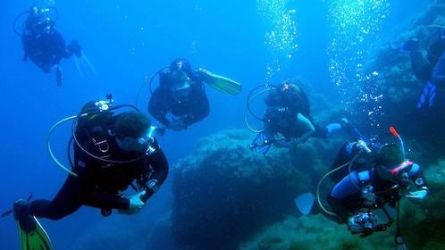 Scuba divers in Keraklion
