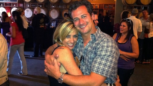 Couple posing on Temecula Wine Tour near San Diego California