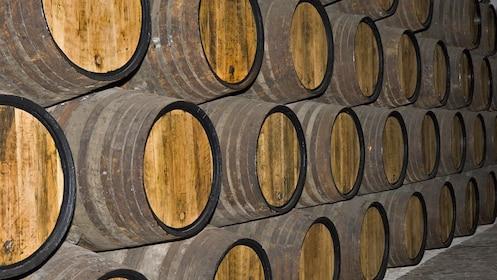 Wine barrels on Temecula Wine Tour near San Diego California